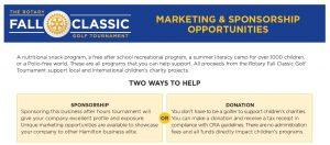 Rotary Sponsorship