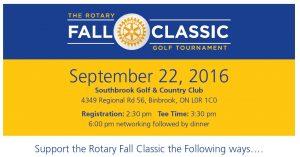 Rotary sponsorship form