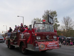 Firetruck and Rotary club of Hamilton
